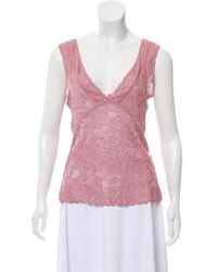 John Galliano - Lightweight Lace Top - Lyst