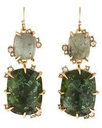 Alexis Bittar - Labradorite Double Drop Elements Earrings Gold - Lyst