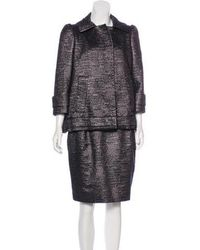 RED Valentino - Bouclé Skirt Suit Silver - Lyst