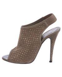 Jenni Kayne - Suede Studded Sandals Silver - Lyst