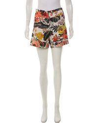 Dries Van Noten - High-rise Floral Shorts - Lyst