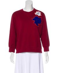 Ostwald Helgason - Embroidered Long Sleeve Sweatshirt - Lyst