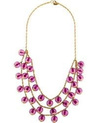Kate Spade - Beaded Collar Necklace Gold - Lyst