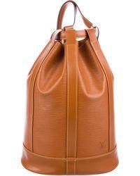Louis Vuitton - Epi Randonnee Backpack Gm Gold - Lyst
