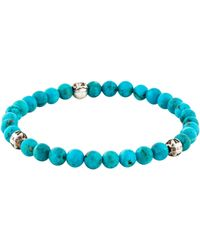 Chrome Hearts - Turquoise Bead Bracelet Silver - Lyst