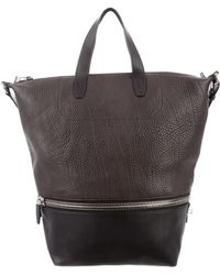 Alexander Wang - Leather Bicolor Tote Brown - Lyst
