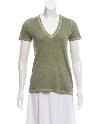 Rag & Bone - Short Sleeve V-neck Top - Lyst