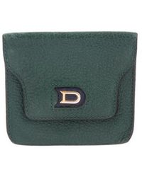 Delvaux - Leather Coin Pouch Green - Lyst