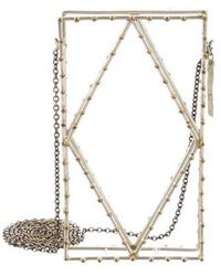 Anndra Neen - Cage Iphone Case Gold - Lyst