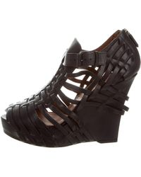 Givenchy - Leather Platform Wedges - Lyst