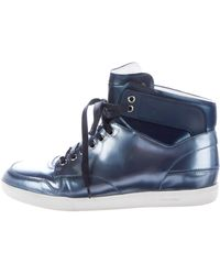Dior Homme - Metallic High-top Sneakers Metallic - Lyst
