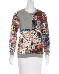 Markus Lupfer - Printed Crew Neck Sweatshirt Grey - Lyst
