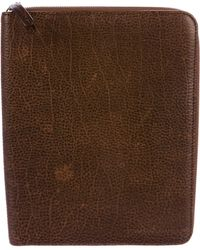Brunello Cucinelli - Grained Leather Ipad Case Brown - Lyst
