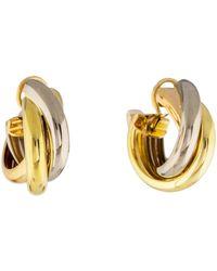 Cartier - Trinity Earrings Yellow - Lyst