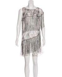 Anna Sui - Printed Fringe Dress - Lyst