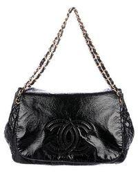 712735831ff6 Lyst - Chanel Small Accordion Flap Bag Black in Metallic