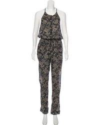 Isabel Marant - Sleeveless Printed Jumpsuit Black - Lyst