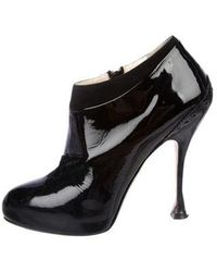 Brian Atwood - Terry Patent Leather Ankle Bootie - Lyst
