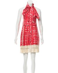 Marc Jacobs - Printed Silk Dress Coral - Lyst