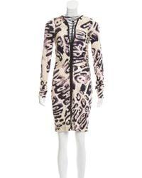 Emilio Pucci - Silk Lace-up Dress Tan - Lyst