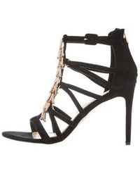 B Brian Atwood - Embellished Cage Sandals Black - Lyst