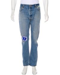 RE/DONE - Distressed Slim Jeans - Lyst