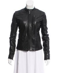 BLK DNM - Leather Fitted Jacket - Lyst