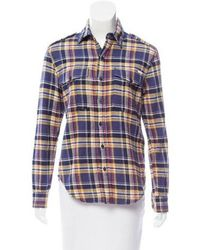 Mother - Plaid Button-up Top W/ Tags - Lyst