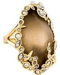 Alexis Bittar - Lucite & Crystal Cocktail Ring Gold - Lyst