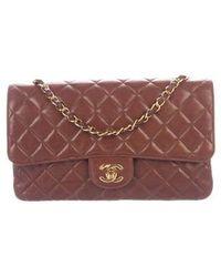 3c09ce844a3e Lyst - Chanel Vintage Classic Medium Single Flap Bag Gold in Metallic