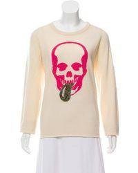 Lucien Pellat Finet - Cashmere Long Sleeve Sweater Neutrals - Lyst