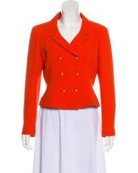 Chanel - Vintage Double-breasted Wool Blazer Orange - Lyst