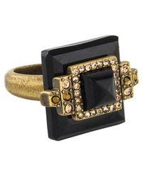 Judith Leiber - Deco Pyramid Cabochon Ring Gold - Lyst