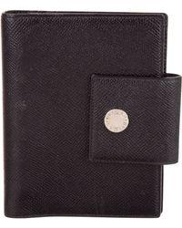 BVLGARI - Leather Agenda Cover Black - Lyst