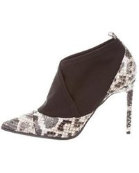 Reed Krakoff - Neoprene-accented Snakeskin Booties W/ Tags Grey - Lyst