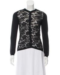 Boutique Moschino - Lace-accented Cardigan - Lyst