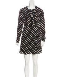 Alexis - Silk Polka Dot Dress Black - Lyst