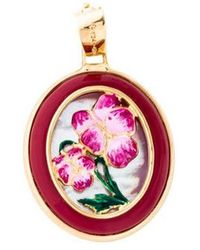 Tagliamonte - Mother Of Pearl & Enamel Floral Pendant Silver - Lyst