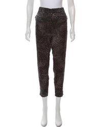 Piamita - Printed Straight-leg Silk Pants - Lyst