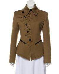 Jean Paul Gaultier - Wool Short Coat Olive - Lyst