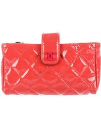 Chanel - Quilted O-phone Holder Silver - Lyst
