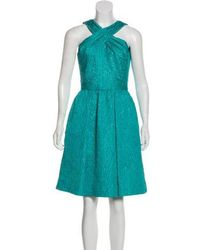 David Meister - Textured Cocktail Dress Turquoise - Lyst