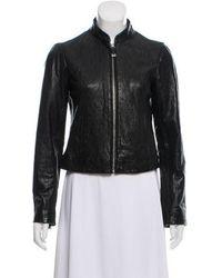 MICHAEL Michael Kors - Michael Kors Leather Moto Jacket Black - Lyst