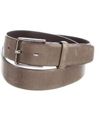 Jil Sander - Leather Silver-tone Belt Green - Lyst