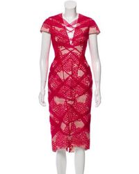 6caba92634b Lyst - Bibhu Mohapatra Embroidered Wrap Dress in White