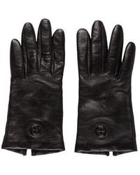Tory Burch - Leather Logo Gloves - Lyst