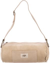 UGG - Suede Barrel Shoulder Bag Beige - Lyst