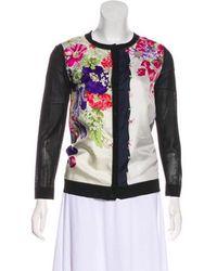 Nina Ricci - Silk Floral Print Cardigan - Lyst