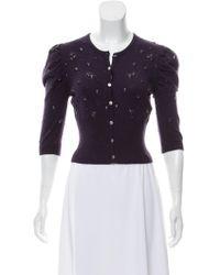 Class Roberto Cavalli - Embellished Wool Cardigan - Lyst