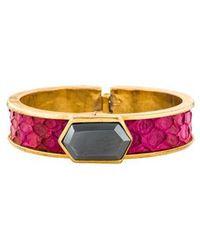 Kara Ross - Hematine & Python Bracelet Gold - Lyst